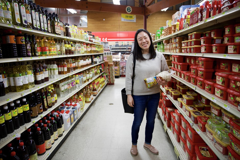 """Insil Kang used to drive an hour with her family to go grocery shopping at stores like this G-Mart in Beaverton. """"I'm Korean-American,"""" Kang said. """"Food is an absolute core of who I am."""""""